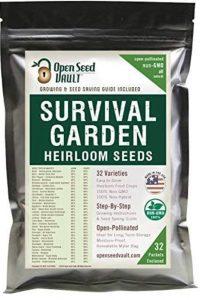 15,000 semillas de hortalizas reliquia ecológicas para jardín de supervivencia. Paquete de 32 variedades Open Seed Vault